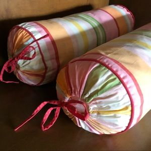 Pottery Barn Kids roll pillows (2)